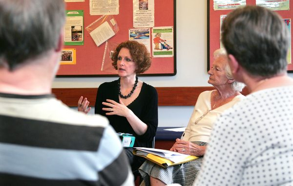 A patient participation group meeting at a GP surgery
