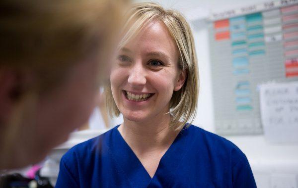 Nursing staff having a discussion
