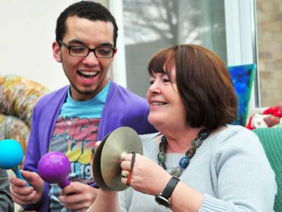 A music session for people with dementia