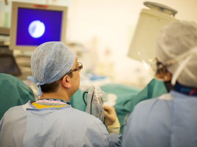 Surgery in hospital theatre