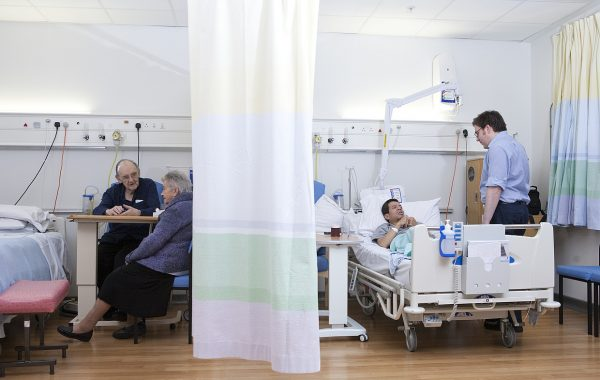 Patients on a hospital ward