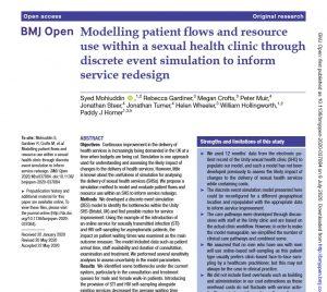 BMJOpen paper modelling patient flows