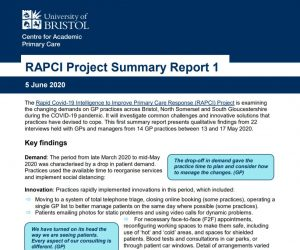 RAPCI summary report 1