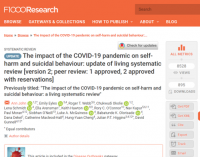 The impact of COVID-19 on self-harm and suicidal behaviour: a living systematic review version 2