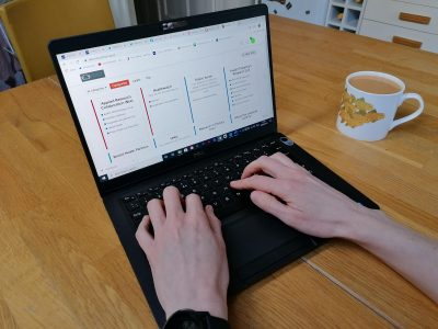 The Discourse platform on a computer