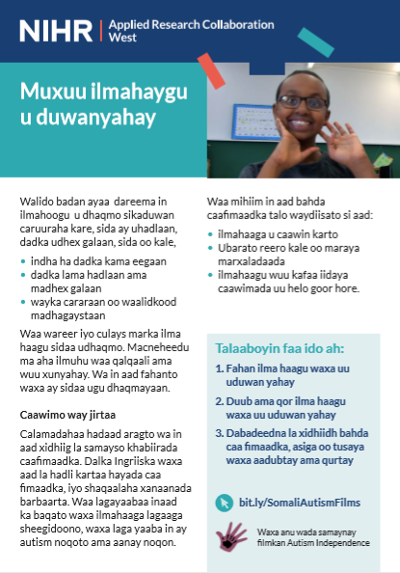 Why is my child different factsheet in Somali