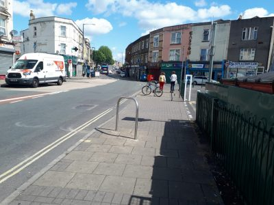 Stapleton Road in Bristol on a sunny day