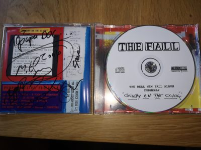 John Macleod's signed copy of The Fall's Country on the Click