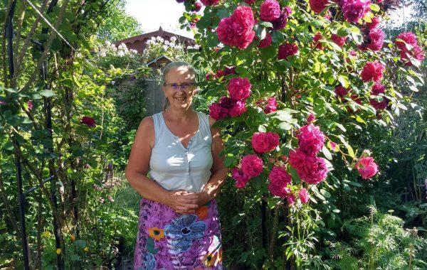 Rosie Davies in her garden