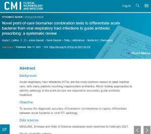 Biomarker testing for RTIs paper