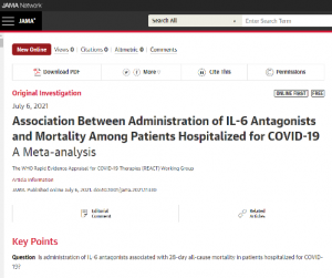 JAMA paper on IL-6 Antagonists and COVID