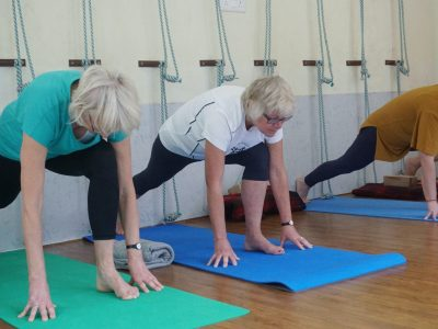 women in active wear at a yoga class