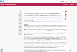 Screen shot of the qualitative paper for the CHOP study