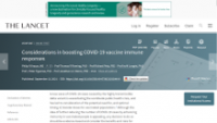 Lancet Viewpoint on COVID-19 vaccination boosters